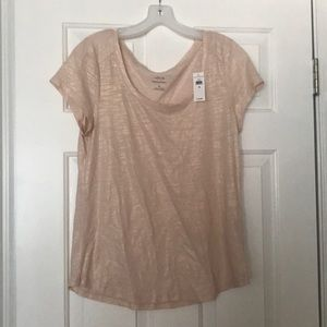 New with tags Banana Republic metallic tee Size M
